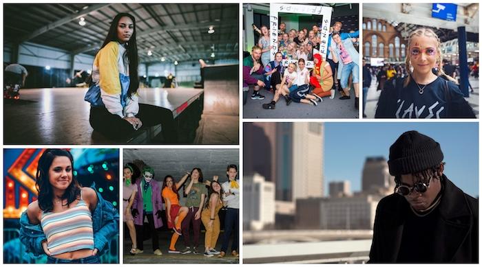 Collage avec idées déguisement année 90 mode, soirée année 90, déguisement année 90 photo