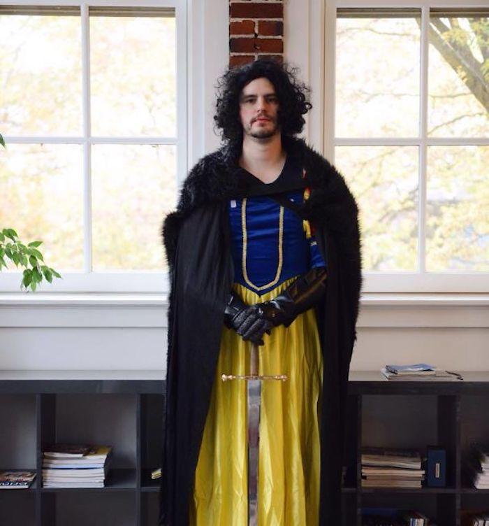 John Snow comme la blanche neige, John Neige idée déguisement halloween, idée costume halloween original