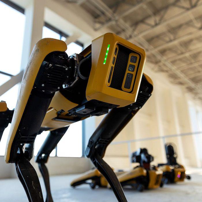 D'abord conçu pour l'armée, le robot-chien Spot de Boston Dynamics est finalement proposé au domaine civil