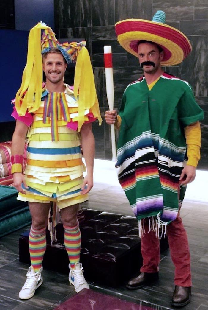 Pinata et mexican qui veut la detruire deguisement groupe, comment s'habiller, déguisement en commun