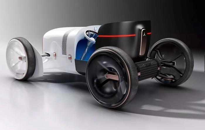 Vision Mercedes Simplex est un hommage à la voiture Mercedes 35 PS de 1901