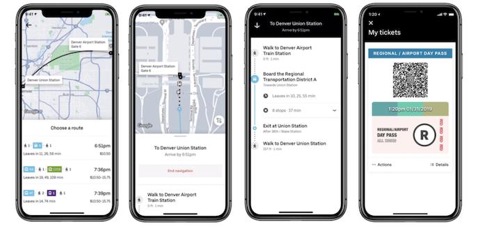 En plus de fusionner ses services au sein d'un même application, Uber élargit ses informations aux transports publics