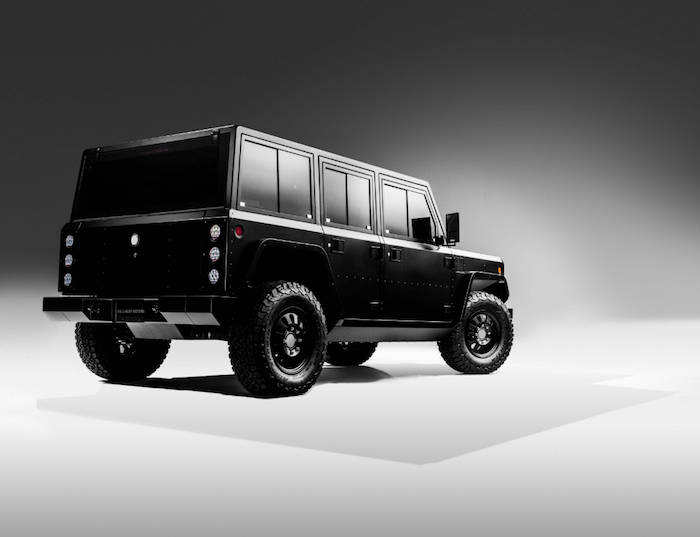 Bollinger Motors a dévoile sa jeep B1 et son pick-up B2, deux véhicules off track électriques
