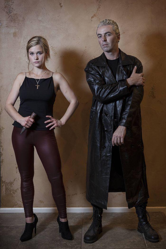 Buffy contre les vampires déguisement dernière minute pour femme blonde, coiffure année 90, déguisement année 90 tendances à l'ancien