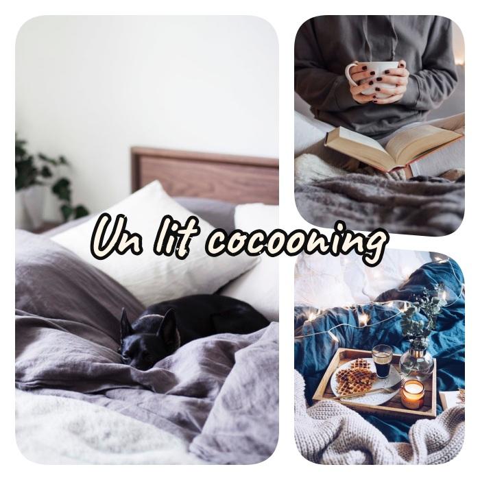 idee deco lit cosy ou comment faire son lit pour le rendre confortable, layering de linge de lit, couvertures plaids et petites decorations de lit