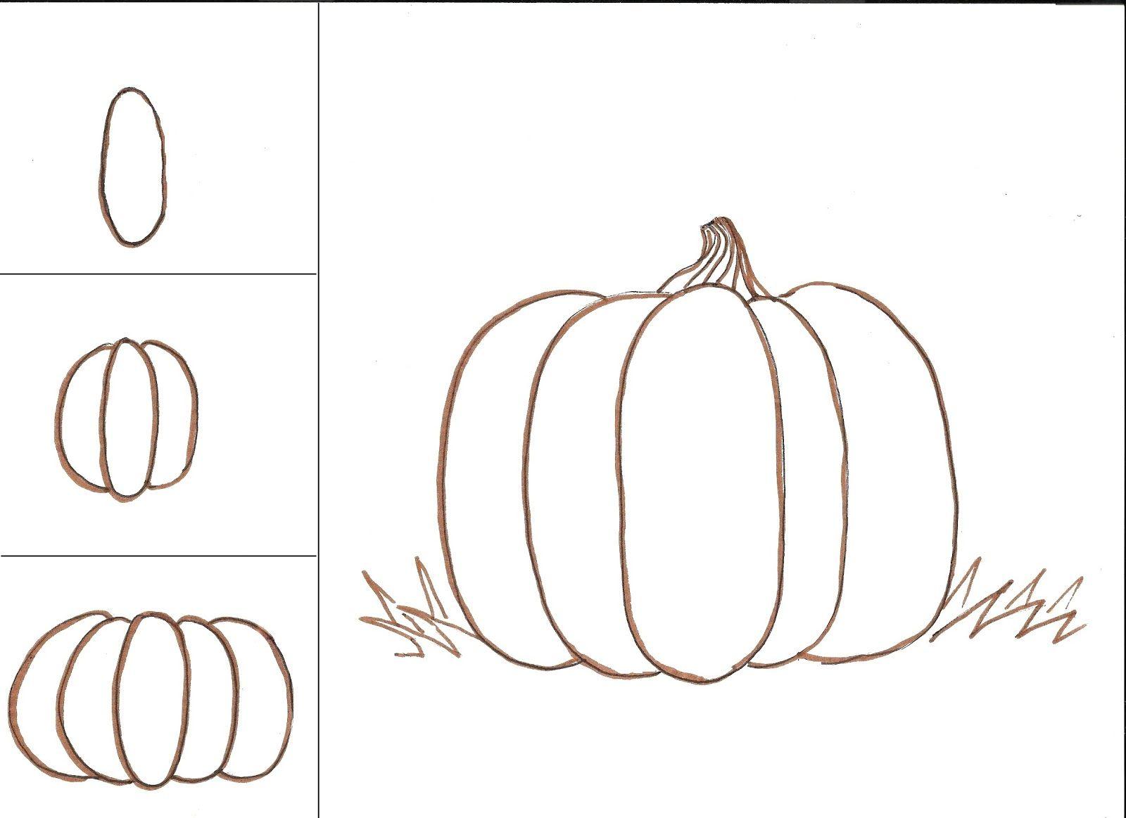 Comment dessiner une citrouille tutoriel étape par étape, idée dessin pour débutant