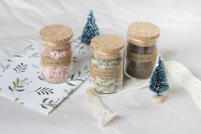 Unique idée de cadeau personnalisé, sel de bain en bocal à votre choix, faire un coffret cadeau couple, idée de cadeau pour couple