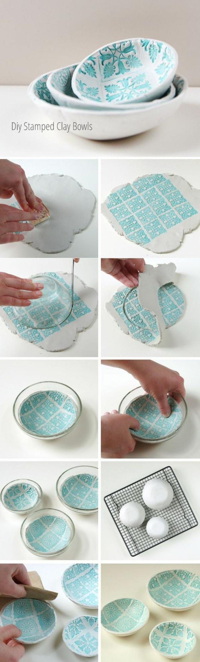 idée comment faire des bols, diy bol bicolore à faire soi même, décoration bol en verre facile, activité manuelle adulte