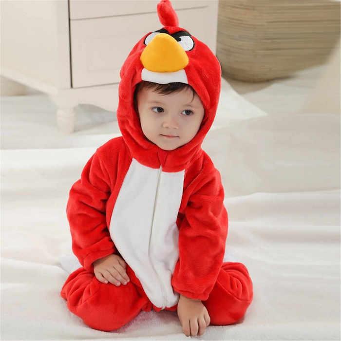 Enfant deguisement Angry bird Red, deguisement Rouge l'oiseau, deguisement halloween enfant, idée comment deguiser son enfant