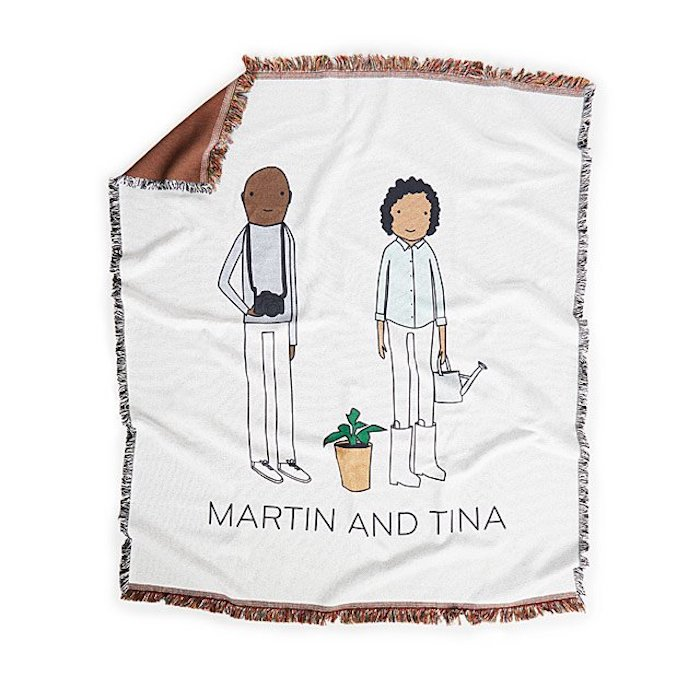 Couverture pour couple cadeau personnalisée, idée cadeau parents, cadeau mariage anniversaire original
