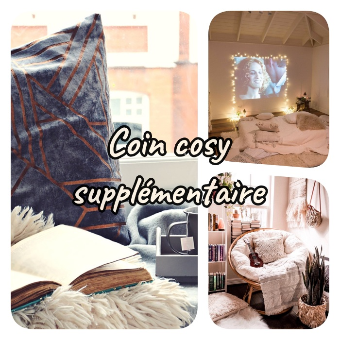 deco chambre moderne style cocooning avec coin cosy supplémentaire, coin cinéma chambre, coin de lecture cosy, coin fenetre