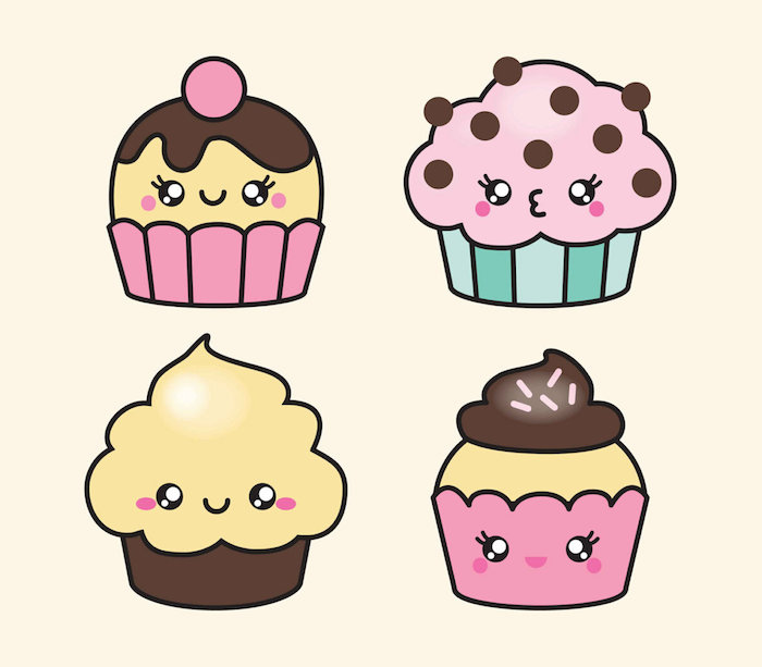 Cupcake Dessin Noel Kawaii