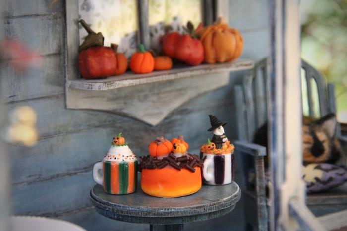 activité manuelle facile et rapide pour Halloween, comment décorer son extérieur pour Halloween, image halloween