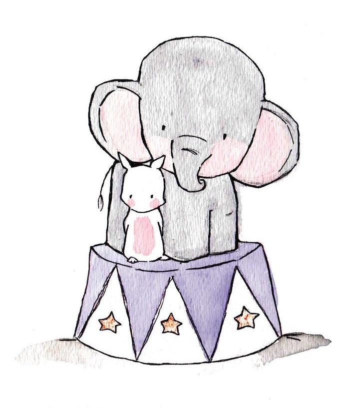 Dessiner Un éléphant Facile