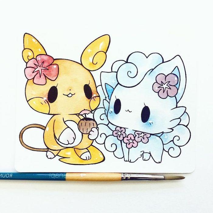 Cute Dessin Kawaii Animaux Facile A Faire