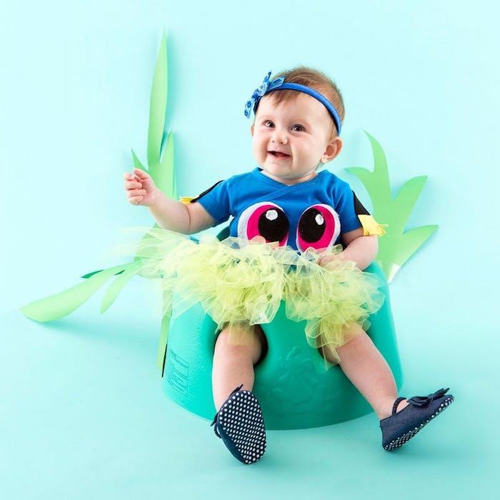 Dori deguisement princesse, deguisement bebe halloween, dessin animé adorable poisson Dori de Nemo