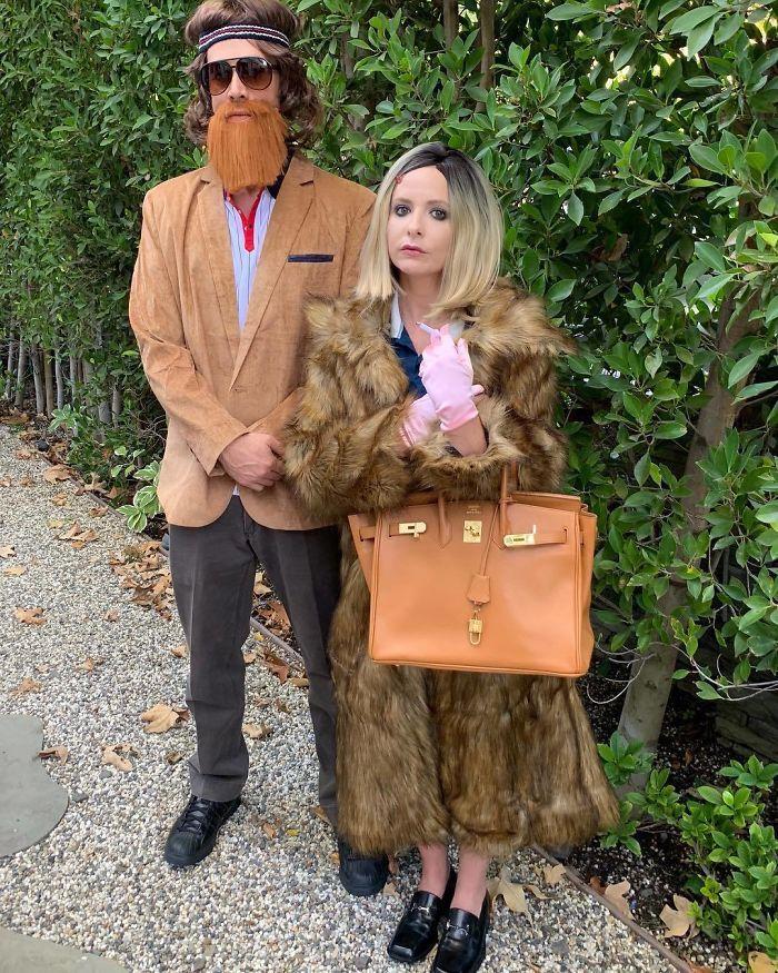 Film déguisement original, idée originale de déguisement simple, couple celebre en rigolo costumes