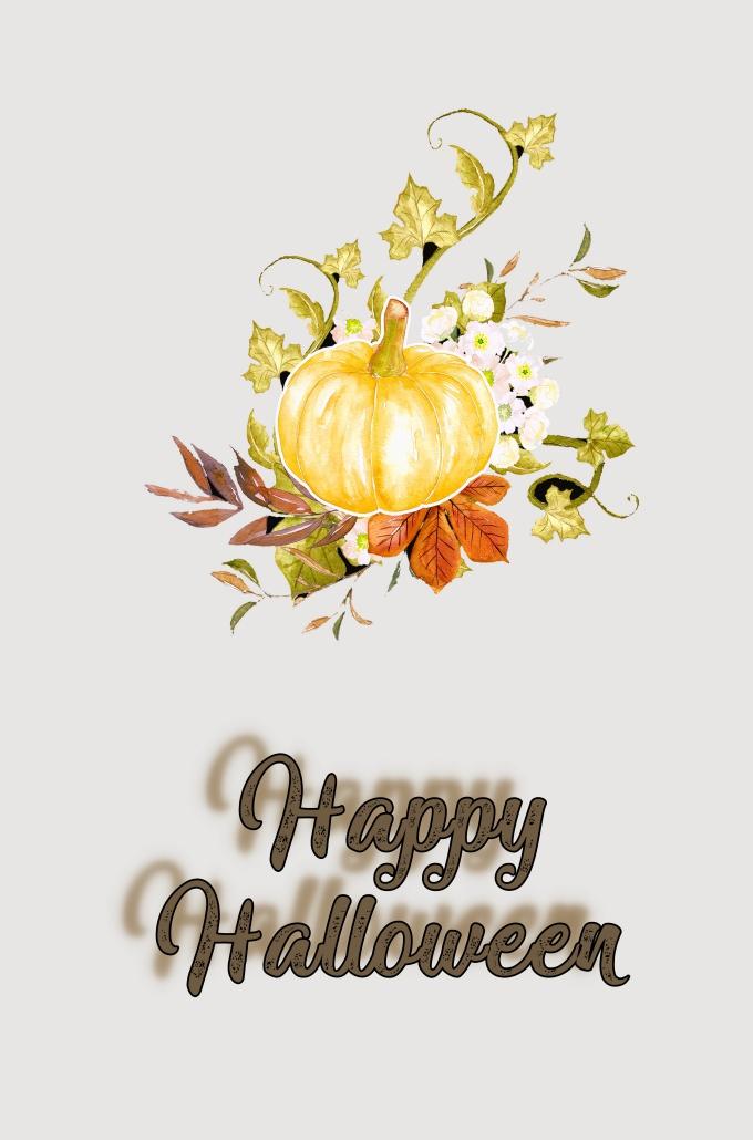 fond ecran halloween pour portable, collage halloween avec image halloween citrouille et lettres joyeux halloween