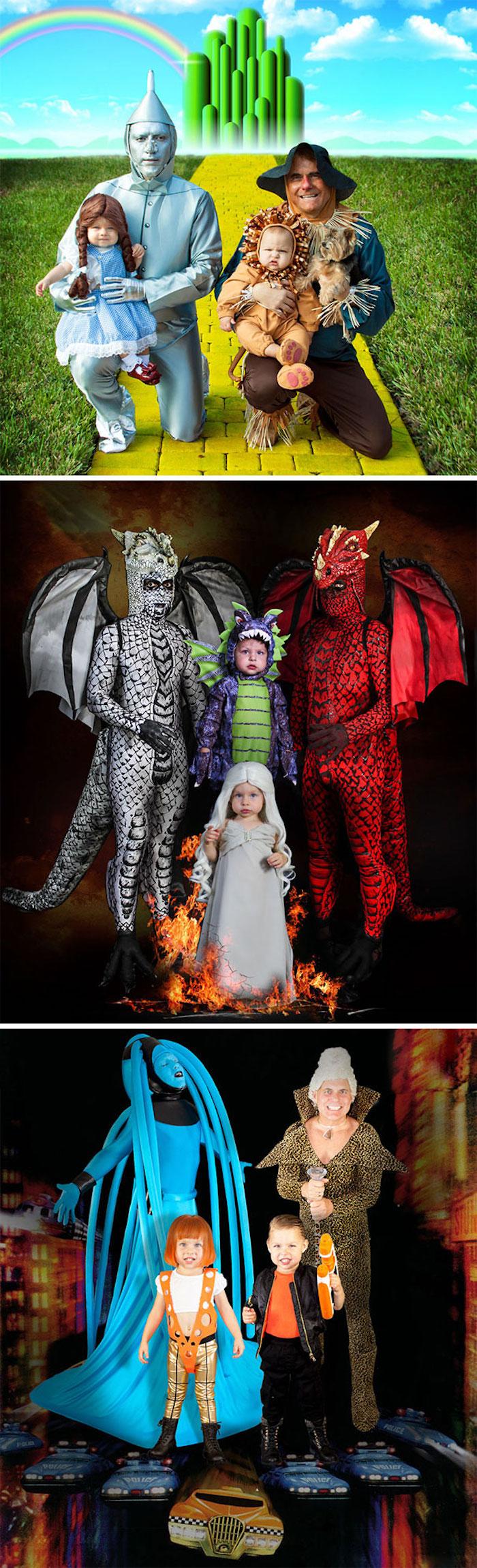 Parfait pour toute la famille deguisement bebe enfants et deux pères, cool idée de costume pour petit enfant Neil Patrick Harris et sa famille Halloween déguisements
