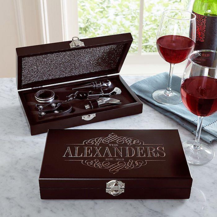 Coffret cadeau pour les amoureux de vin, personnalisé cadeau romantique, idée de cadeaux pour chaque occasion