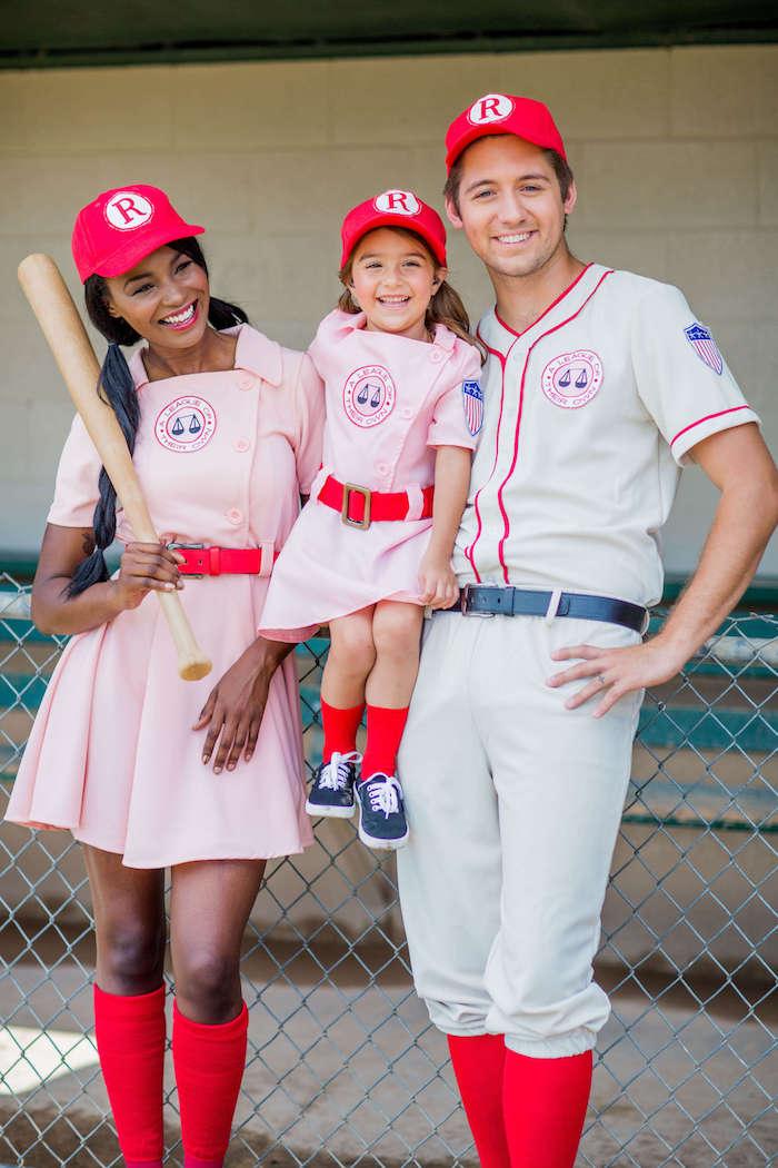 Deguisement baseball team, déguisement halloween pour bébé et ses parents, avoir sa propre groupe de sport