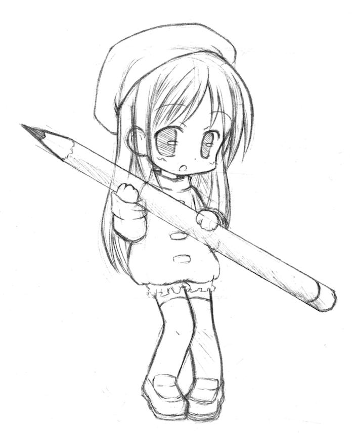 Dessin Manga Fille Kawaii