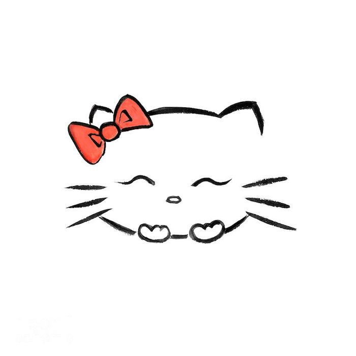 Chat Dessin Kawaii Animaux Facile A Faire
