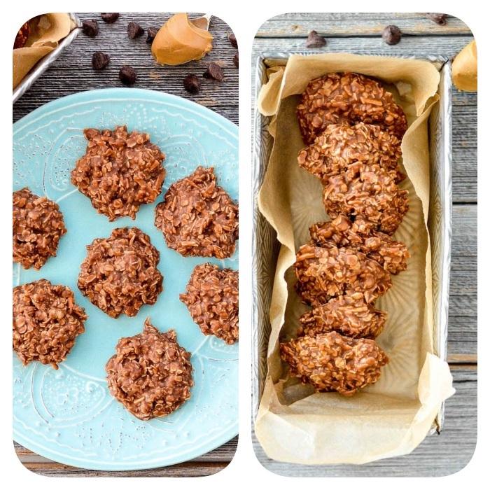 pate a cookie crue, recette de cookies sans cuisson au beurre de cacahuere, flacons d avoine, coco rapé, sirop d erable