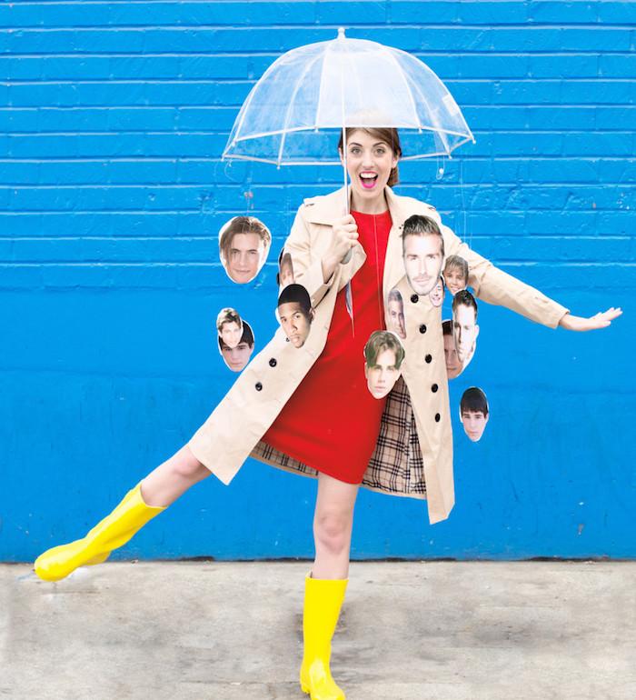 It's raining man costume parapluie accessoire halloween, déguisement halloween fait maison