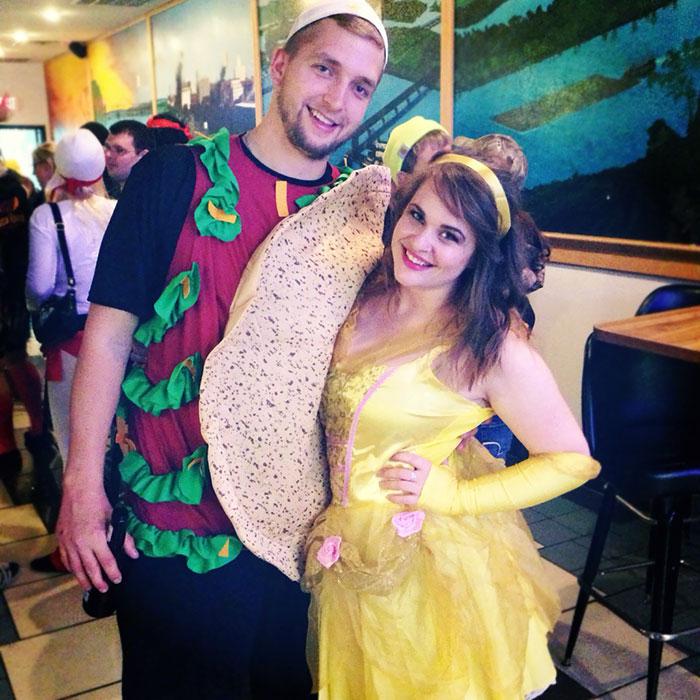 Taco Belle amusant déguisement couple, déguisement drôle, déguisement halloween fait maison