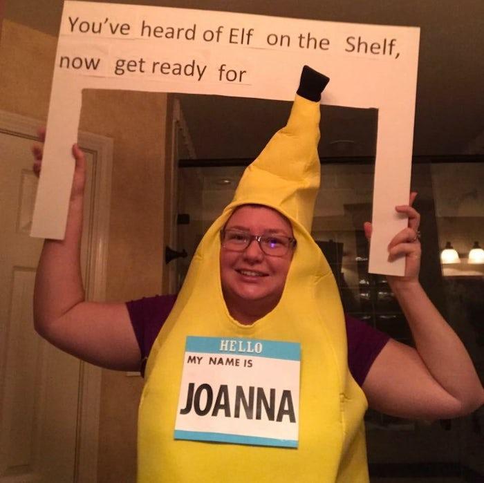 Banana Joanna idée déguisement halloween, déguisement humoresque pour femme qui s'appelle Joanna