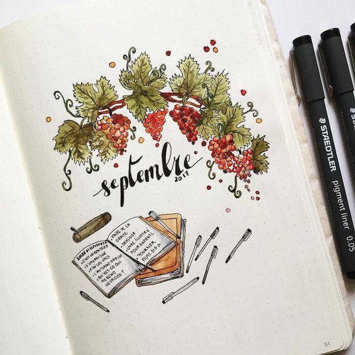 Idée comment dessiner septembre, vin et études, coloriage d'animaux, automne dessin coloré aquarelle