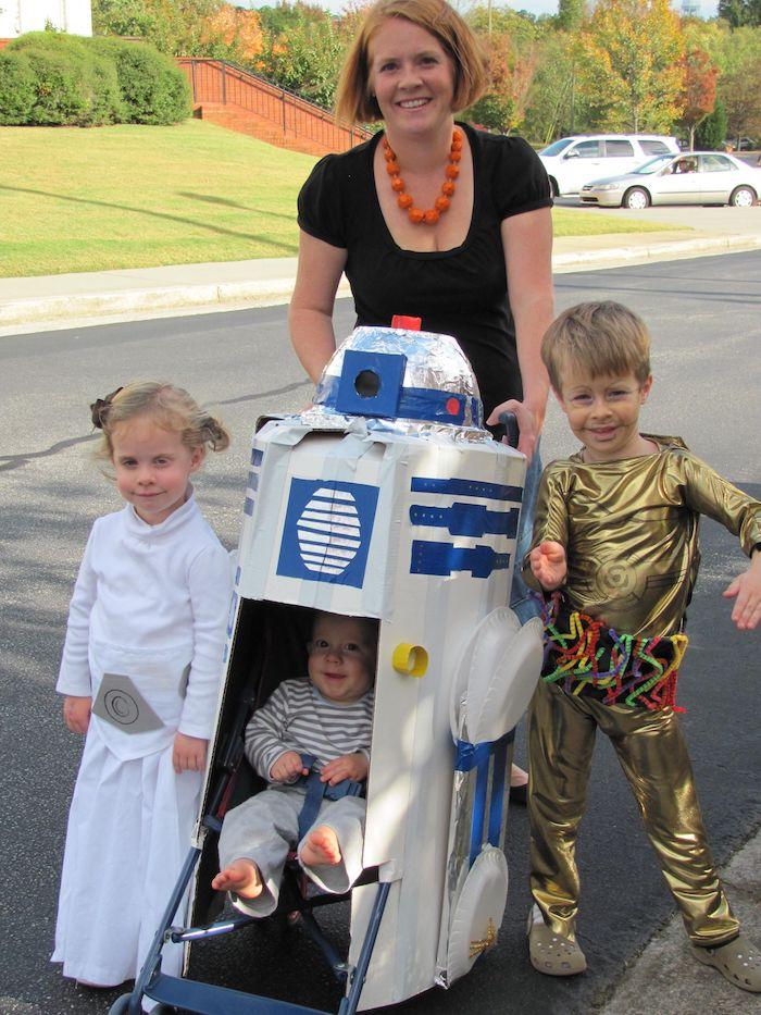 Star wars idée costumes pour toute la famille, original deguisement halloween fille ou deguisement bebe garcon