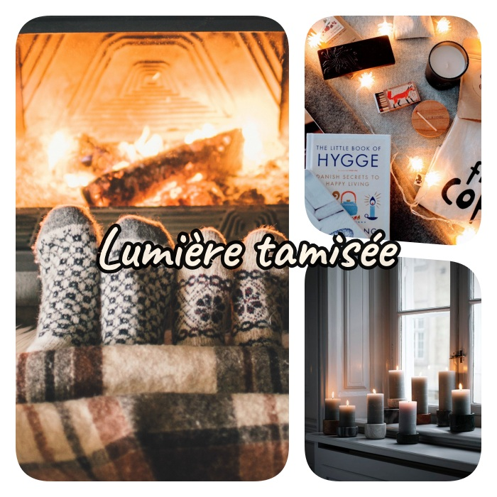 lumière tamisée pour creer une ambiance cosy dans la chambre avec bougies, guirlande lumineuse interieur ou cheminée chaleureuse