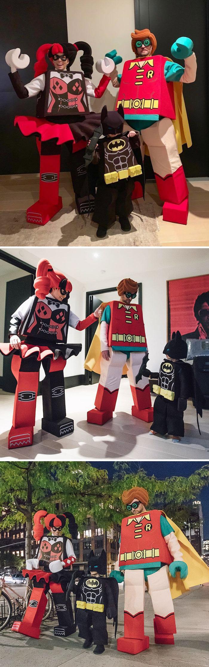 Lego famille deguisement drole groupe, la meilleure idée costume halloween