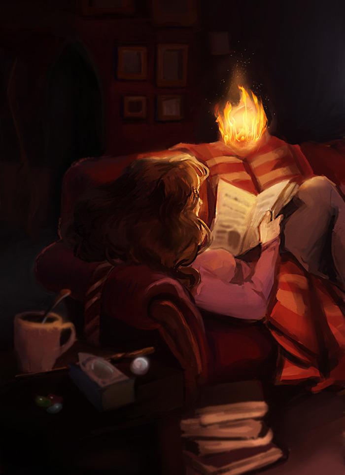 Dessin d automne fille qui lit dans son salon sombre, comment dessiner une fille assise sur un canapé, apprendre à dessiner