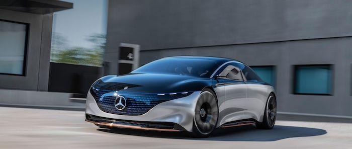 Mercedes a dévoilé sa future berline de luxe électrique Vision EQS au Salon de l'auto de Francfort