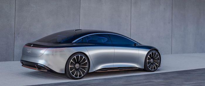 Vision EQS reprend le flambeau des berlines de luxe de Mercedes avec son moteur électrique de 476 chevaux