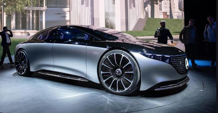 La berline de luxe électrique de Mercedes a été dévoilée au Salon de l'auto de Francfort