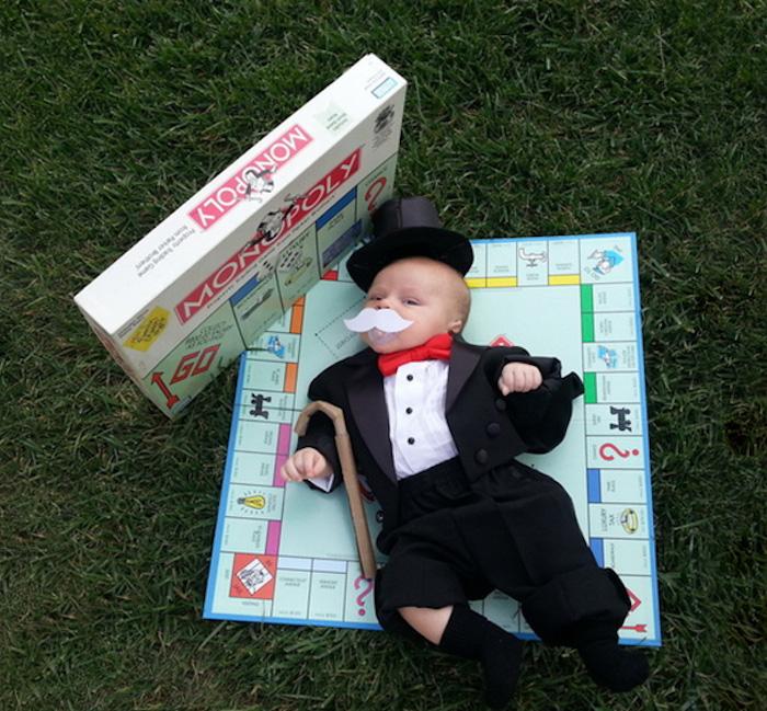 Monsieur Monopoly deguisement bebe garçon adorable, cool idée de costume pour petit enfant
