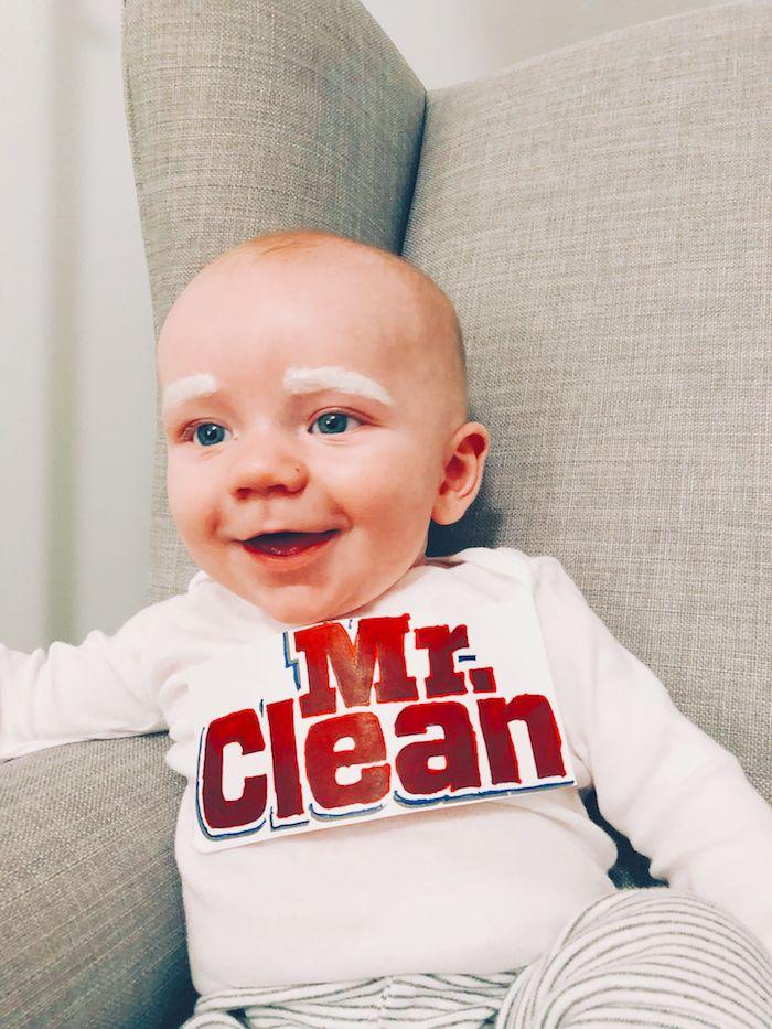 Monsieur Clean deguisement original, déguisement halloween pour bébé amusement