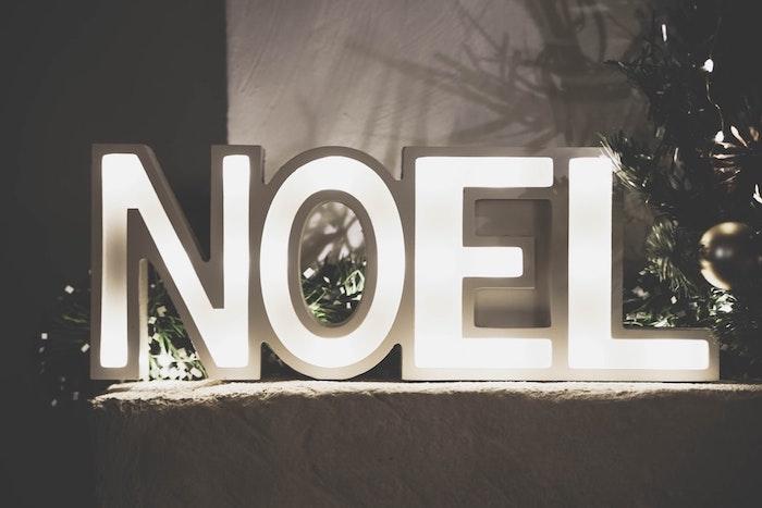 Noël signe illuminé, décoration de Noël 2019, créer de l'ambiance festive