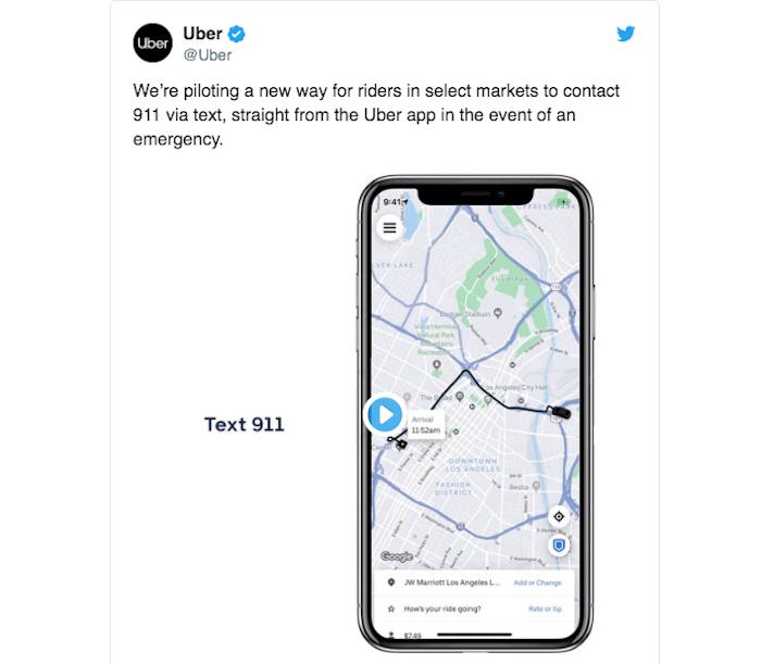 Uber fusionne ses applications et propose un nouveau service d'urgence par sms
