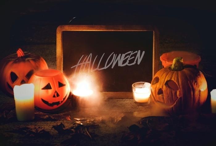 idée de décoration DIY pour Halloween, diy lanternes à bougie pour halloween, fond ecran halloween pour ordinateur