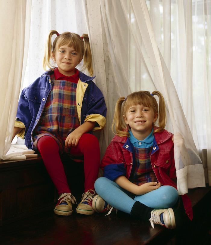 Mary-kate et ashley olsen photo idée vetement année 90, deguisement film vintage inspiration