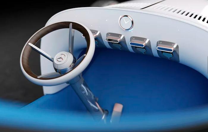 Ultra moderne d'apparence, la Vision Mercedes Simplex mise toutefois sur le minimalisme
