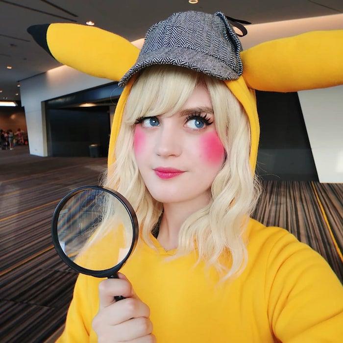 Détective Pikachu costume pour fille, idée Pokémon déguisement halloween femme original, déguisement drôle