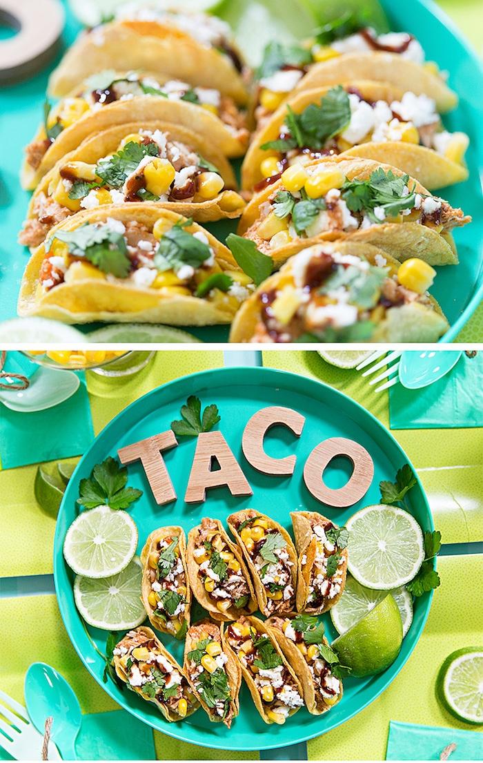recette pour un apero dinatoire ete, des mini-tacos au poulet pour accompagner un barbecue mexicain