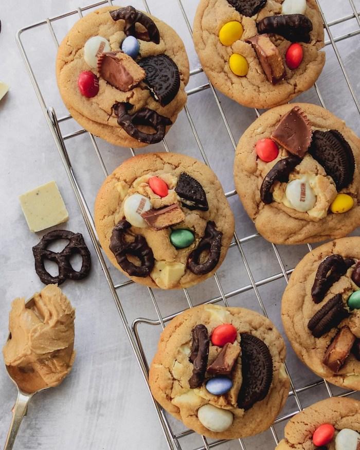 recette pate sablée, cookies aux bonbons de chocolat, oreo, bretzels chocolatés et bonbons au chocolat