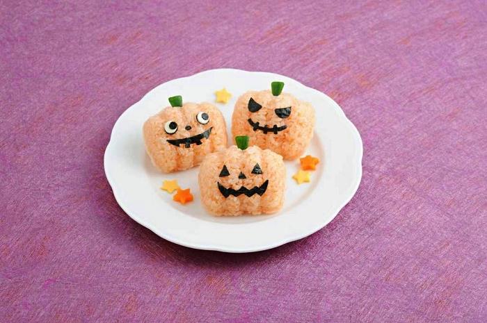 recette facile pour l'apero dinatoire halloween, sushis d'halloween façon citrouilles d'halloween